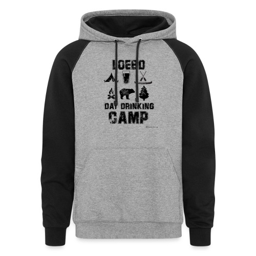 LOEBD Day Drinking Camp - Unisex Colorblock Hoodie