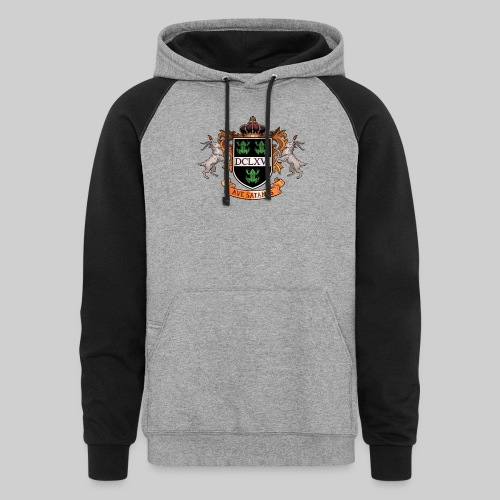 Satanic Heraldry - Coat of Arms - Colorblock Hoodie