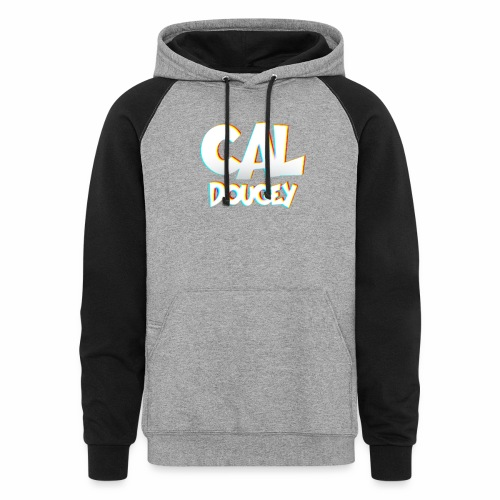 CAL DOUGEY TEXT - Colorblock Hoodie