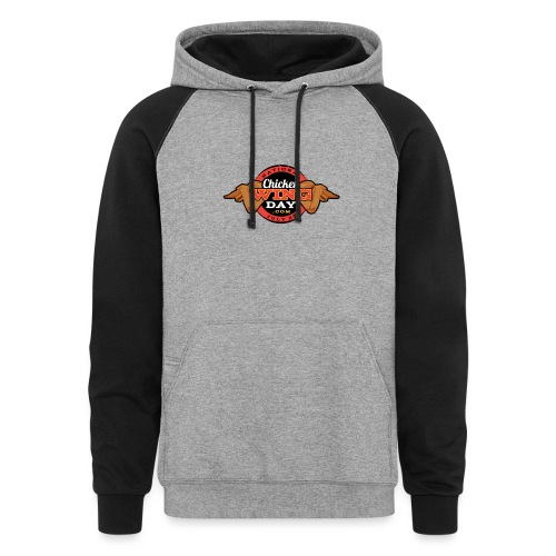 Chicken Wing Day - Unisex Colorblock Hoodie