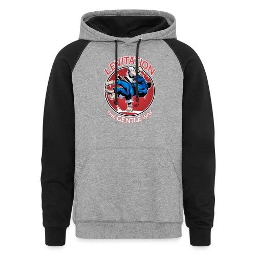 Judo Shirt - Levitation for dark shirt - Unisex Colorblock Hoodie