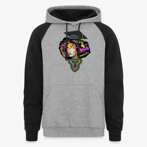 Melanin Women Afro Education - Colorblock Hoodie
