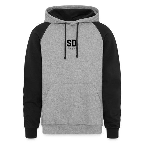 SD Designs blue, white, red/black merch - Colorblock Hoodie