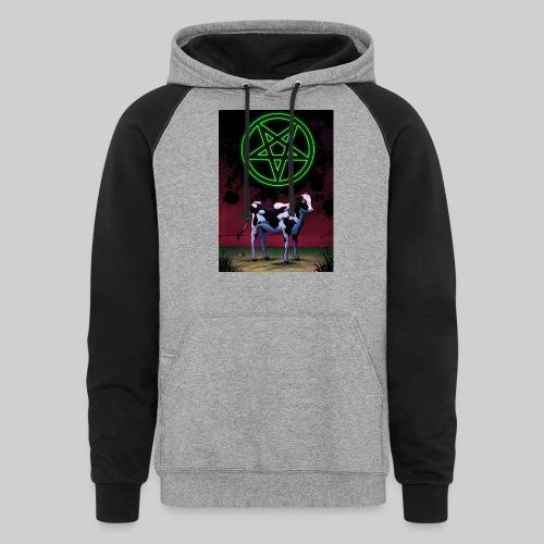 Satanic Cow - Unisex Colorblock Hoodie