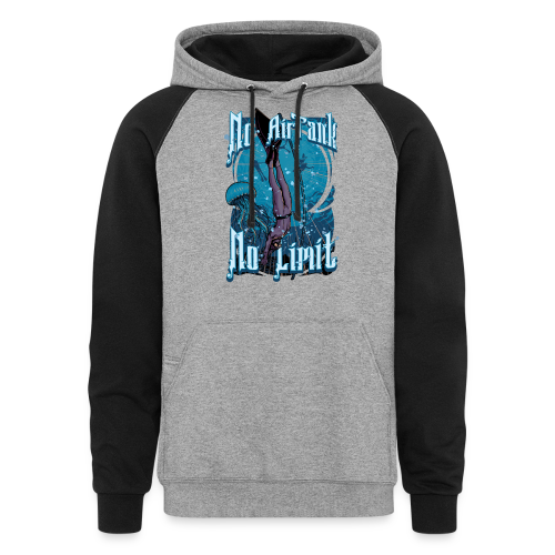 No Air Tank No Limit Freediving merchandise - Colorblock Hoodie