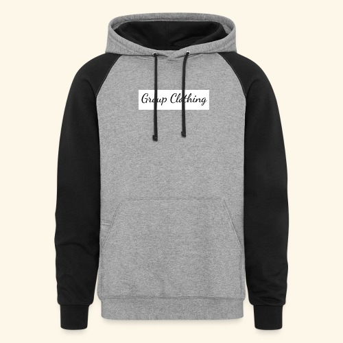 Cursive Black and White Hoodie - Colorblock Hoodie
