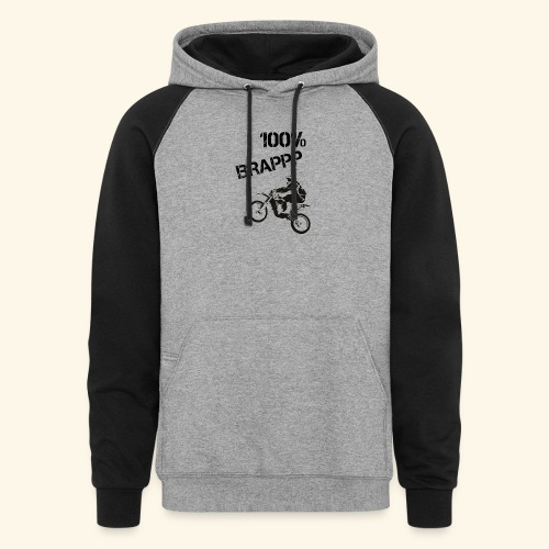 100% BRAPPP (Black and White) - Colorblock Hoodie