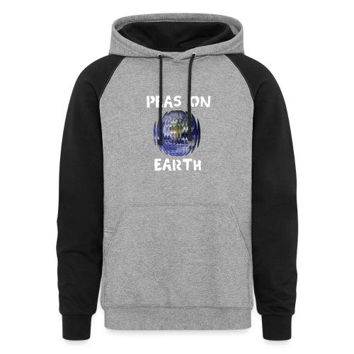Peas on Earth! - Unisex Colorblock Hoodie
