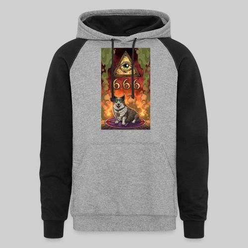 Satanic Corgi - Unisex Colorblock Hoodie