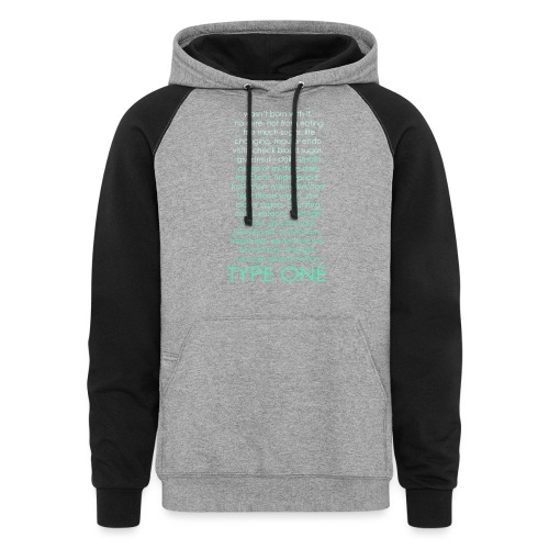 The Inspire Collection - Type One - Green - Colorblock Hoodie