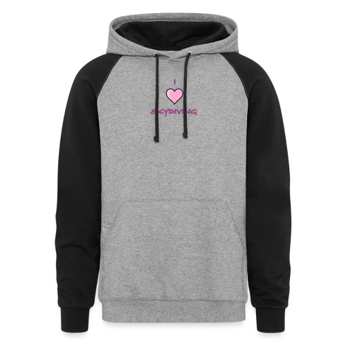 I Love Skydiving/BookSkydive/Perfect Gift - Colorblock Hoodie