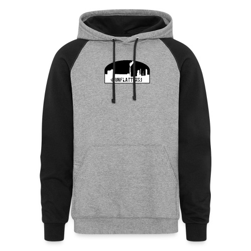 Unflatter Hashtag logo - Colorblock Hoodie