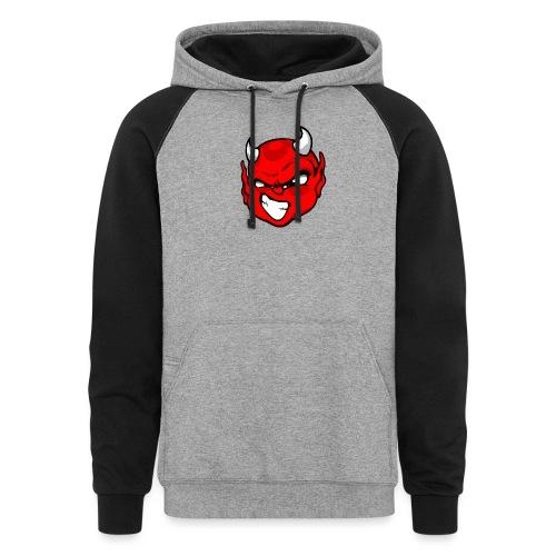 Rebelleart devil - Unisex Colorblock Hoodie