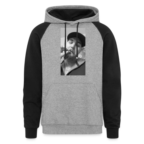 Turupxprime Hoots black n white merch line. - Colorblock Hoodie