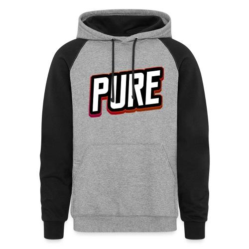pure logo 2 - Unisex Colorblock Hoodie