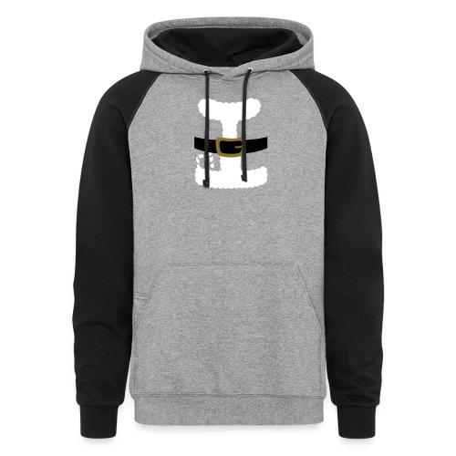 SANTA CLAUS SUIT - Men's Polo Shirt - Colorblock Hoodie