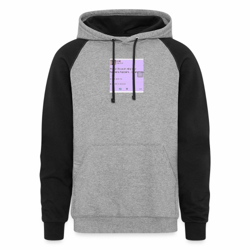 Idc anymore - Colorblock Hoodie