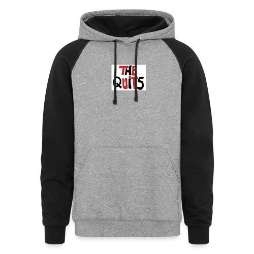 quits logo - Colorblock Hoodie