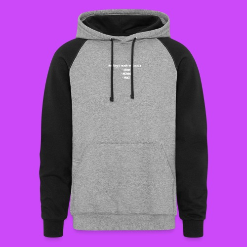 Ineffable Hockey Hoodies 2 - Unisex Colorblock Hoodie