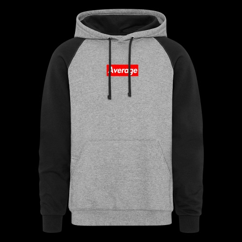 Average Supreme Logo Mockup - Colorblock Hoodie
