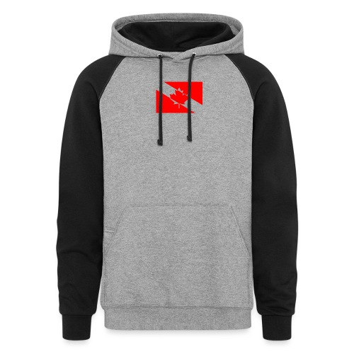 Clear White Dive Canada v. Small - Colorblock Hoodie