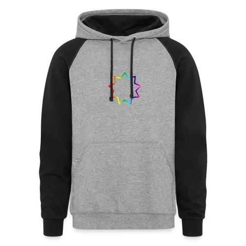 Baha´i rainbow - Colorblock Hoodie