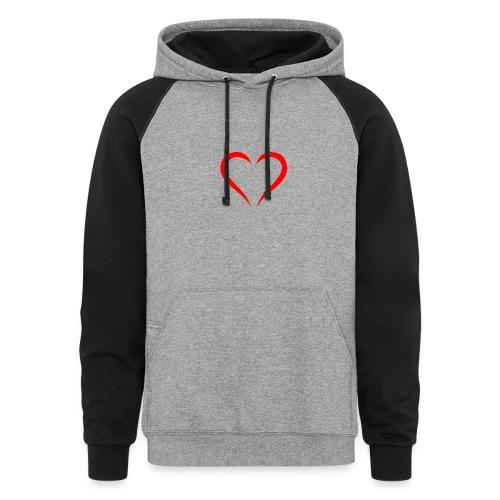 open heart - Colorblock Hoodie