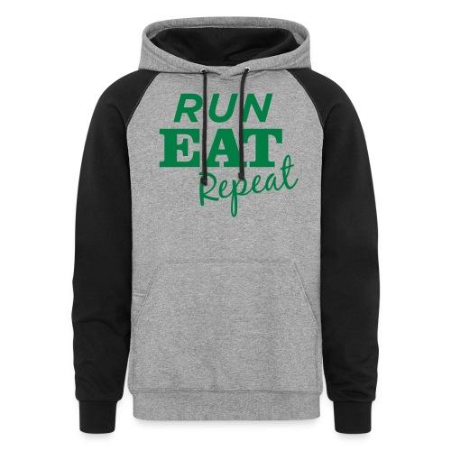 Run Eat Repeat buttons medium - Colorblock Hoodie