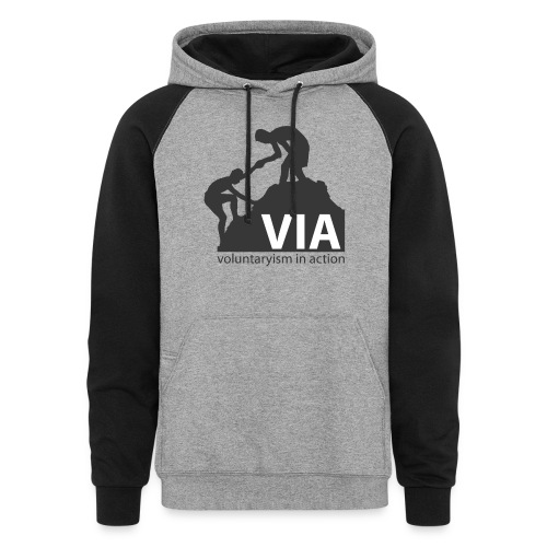 VIA Logo Black - Colorblock Hoodie