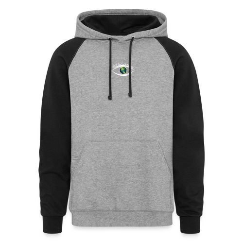 Self Sufficient Me Logo white small coy design - Colorblock Hoodie
