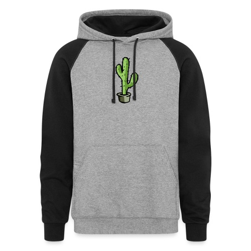Fresh Green Cactus - Colorblock Hoodie