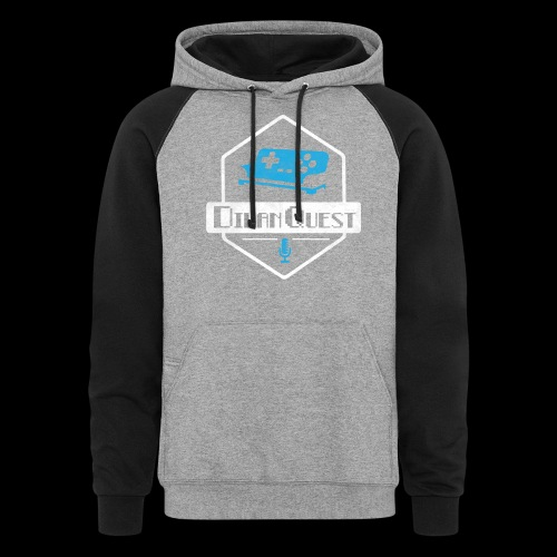 DivanQuest Logo (Badge) - Unisex Colorblock Hoodie