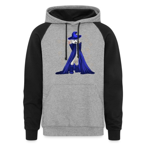 Cat Wizard with Stars - Unisex Colorblock Hoodie