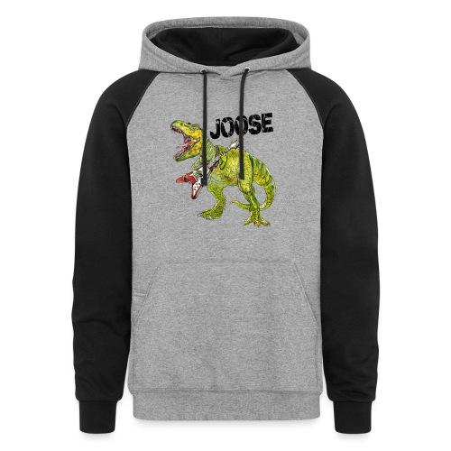 JOOSE T-Rex - Unisex Colorblock Hoodie