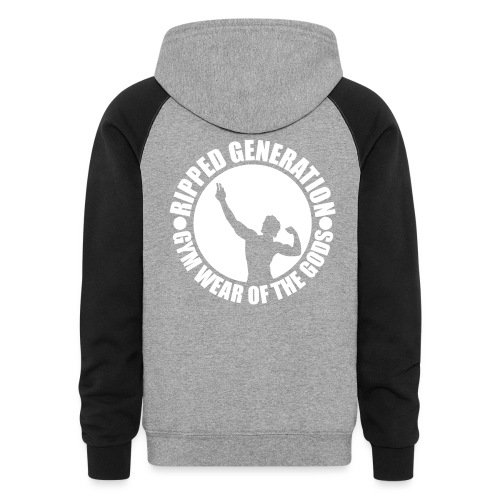 Ripped Generation Gym Wear of the Gods Badge Logo - Colorblock Hoodie