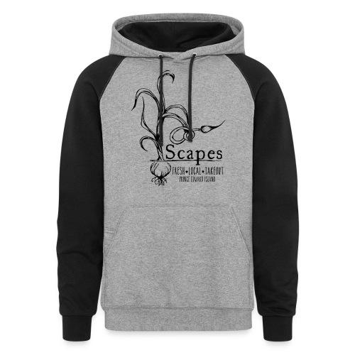 Scapes Logo black transparent png - Colorblock Hoodie