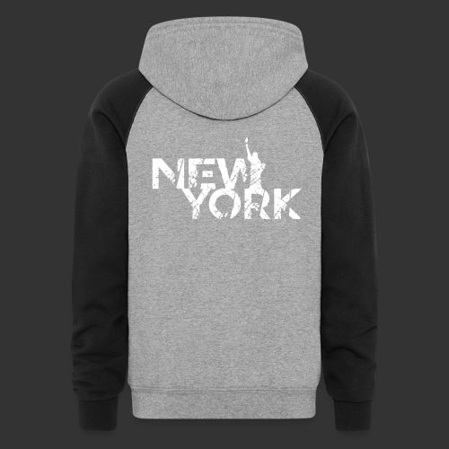 New York (Flexi Print) - Colorblock Hoodie