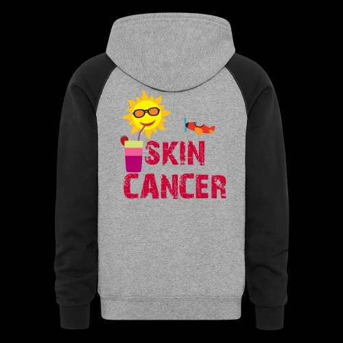 SKIN CANCER AWARENESS - Unisex Colorblock Hoodie