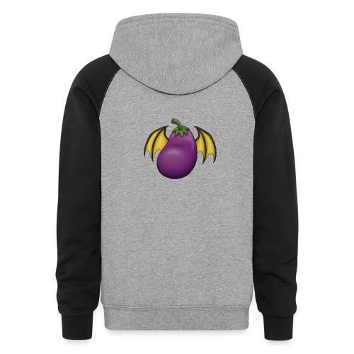 Eggplant Logo - Unisex Colorblock Hoodie