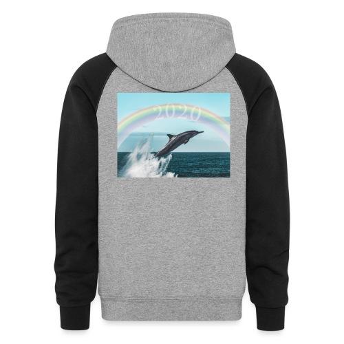 dolphin - Unisex Colorblock Hoodie
