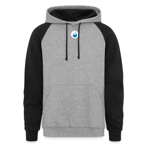 flame front png - Unisex Colorblock Hoodie