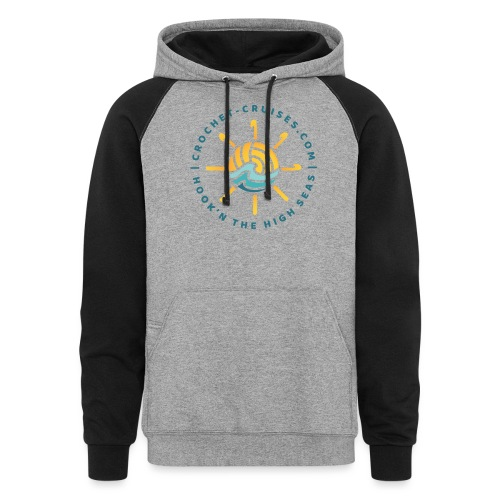 Front and Back Emblem - Womens - Unisex Colorblock Hoodie