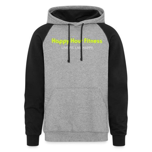 HHF_logotypeandtag - Unisex Colorblock Hoodie
