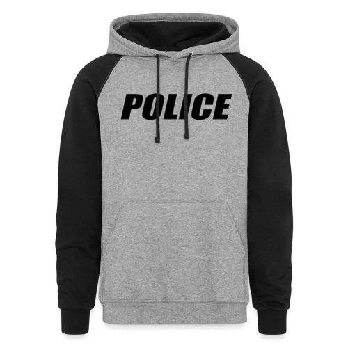 Police Black - Unisex Colorblock Hoodie