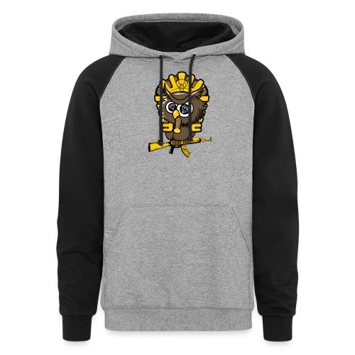 king otrg owl - Unisex Colorblock Hoodie