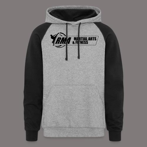 RMA-full-logo-Front-1clr- - Colorblock Hoodie