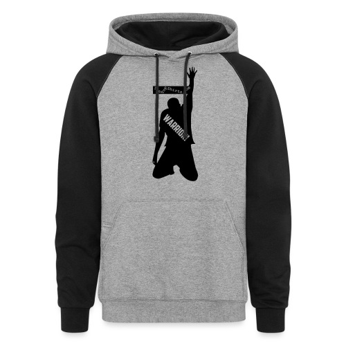 warrior shirt front - Colorblock Hoodie