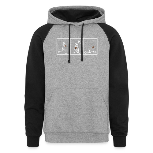 BUTTFUMBLE 6 (With Cartoon) - Colorblock Hoodie