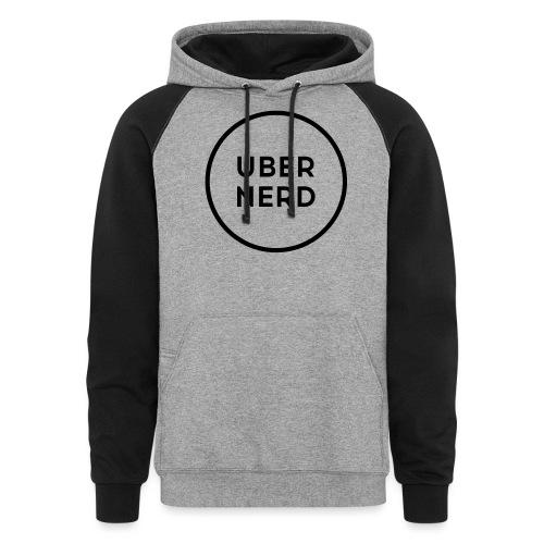 uber nerd logo - Colorblock Hoodie