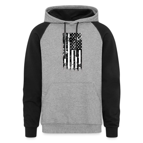 we the people no txt.png - Colorblock Hoodie